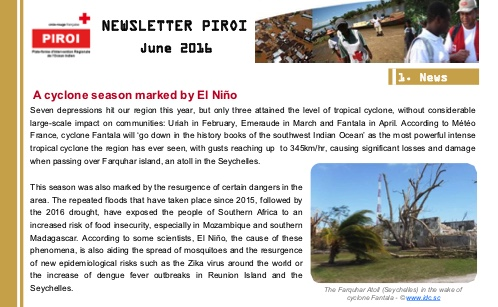 Newsletter PIROI – June 2016