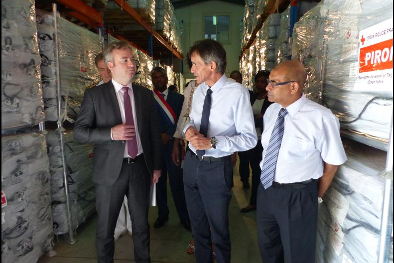 Le Secrétaire d'État auprès du ministre de l'Europe et des affaires étrangères visite la PIROI