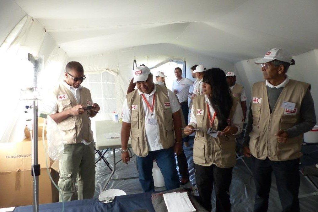 Fin de la formation de la 1ère équipe RDRT spécialisée dans la santé d'urgence