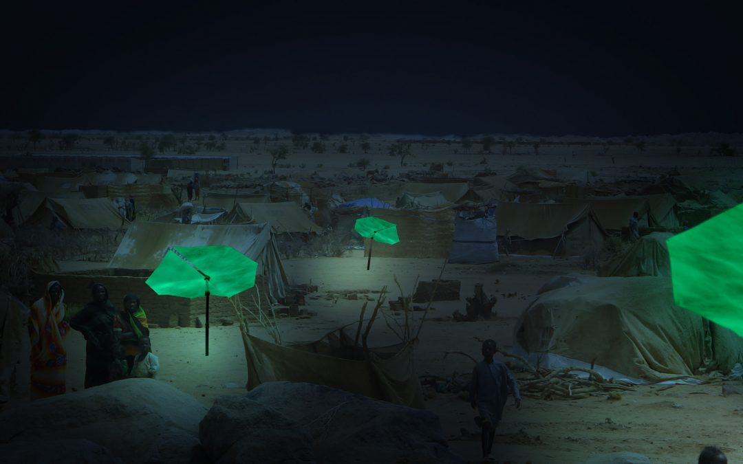 Innovative phosphorescent shelters ensure safer communities