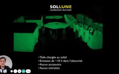 Innovation: des toiles phosphorescentes pour assurer la sécurité des populations
