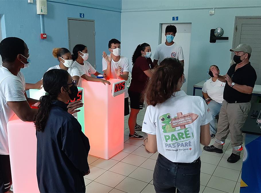 Intervention de la Croix-Rouge française lors du Service National Universel (SNU)